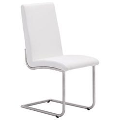 Madero Modern Dining Chair in White