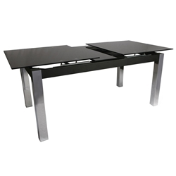 Madison Modern Black Glass Extension Dining Table