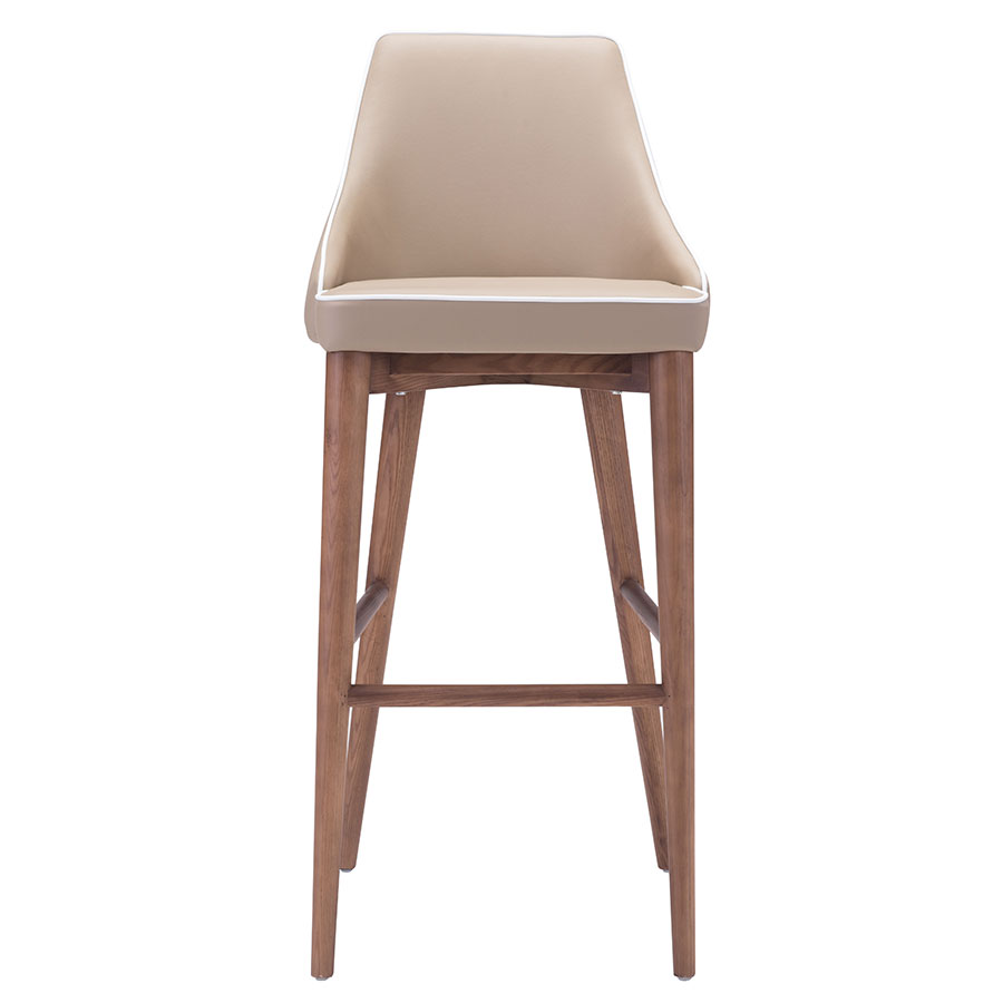 Madock Beige Contemporary Bar Stool