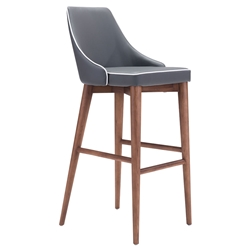 Madock Gray Modern Bar Stool