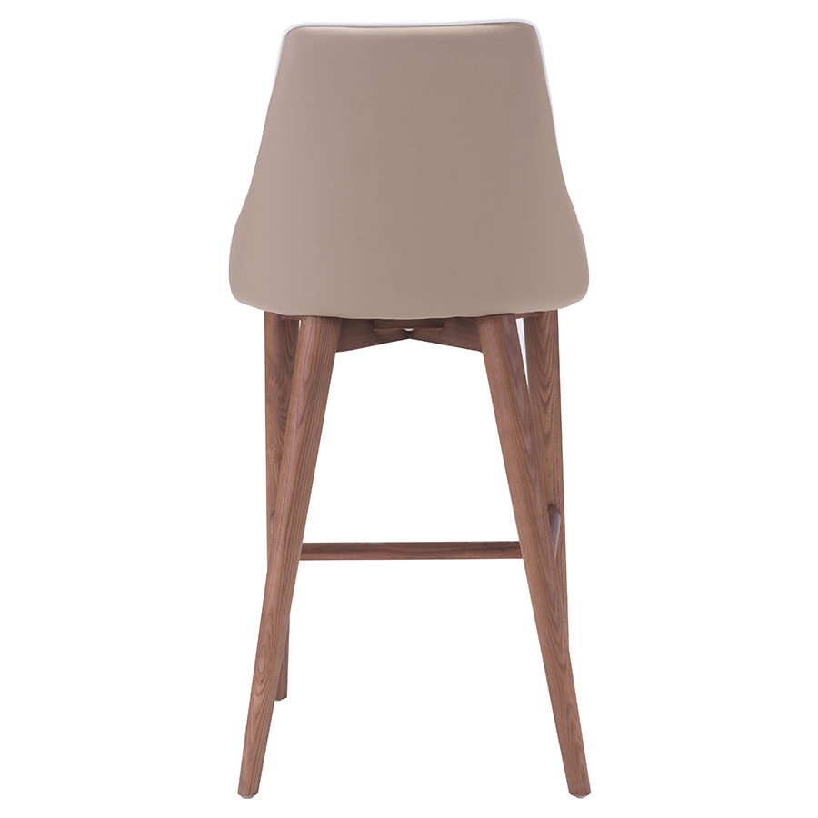 Madock Beige Leatherette Contemporary Counter Stool