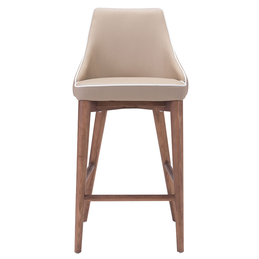 Madock Beige Contemporary Counter Stool
