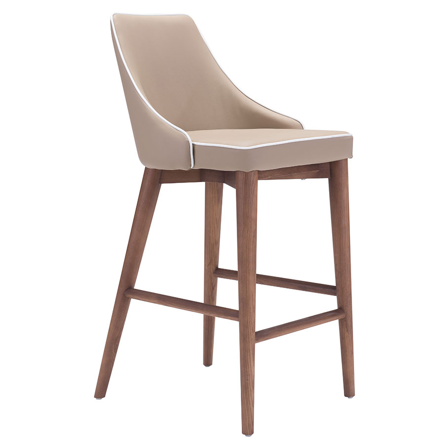 Madock Beige Modern Counter Stool
