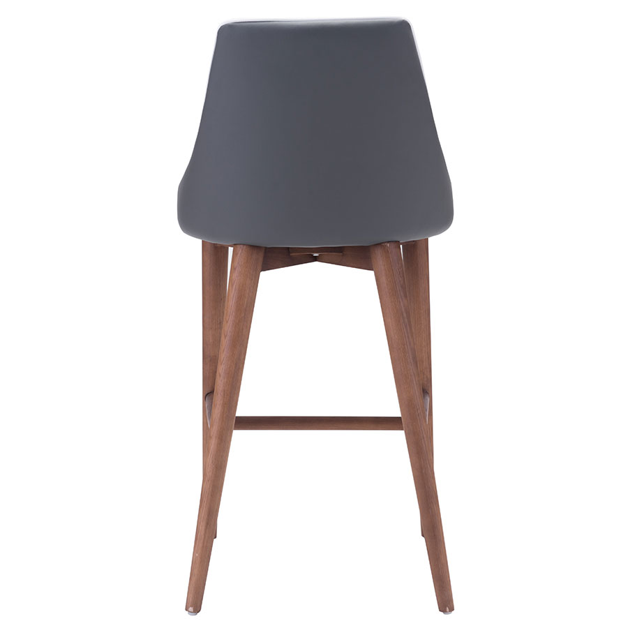 Madock Gray Leatherette Contemporary Counter Stool