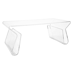 Magazine Rack Modern Clear Acrylic Coffee Table