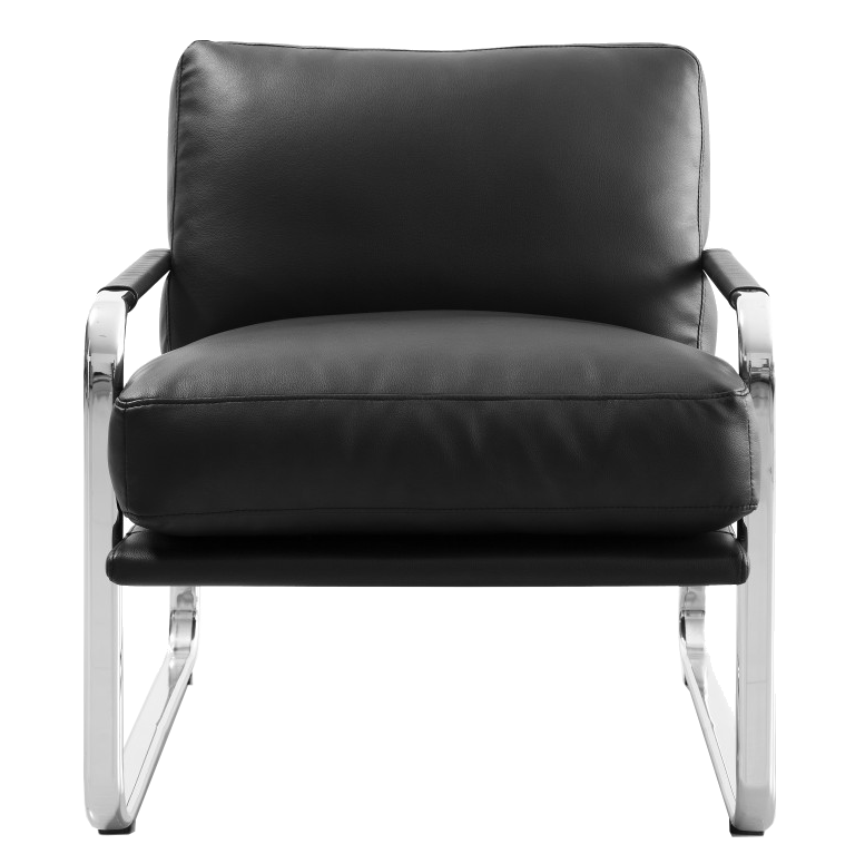 Magi Black Contemporary Lounge Chair