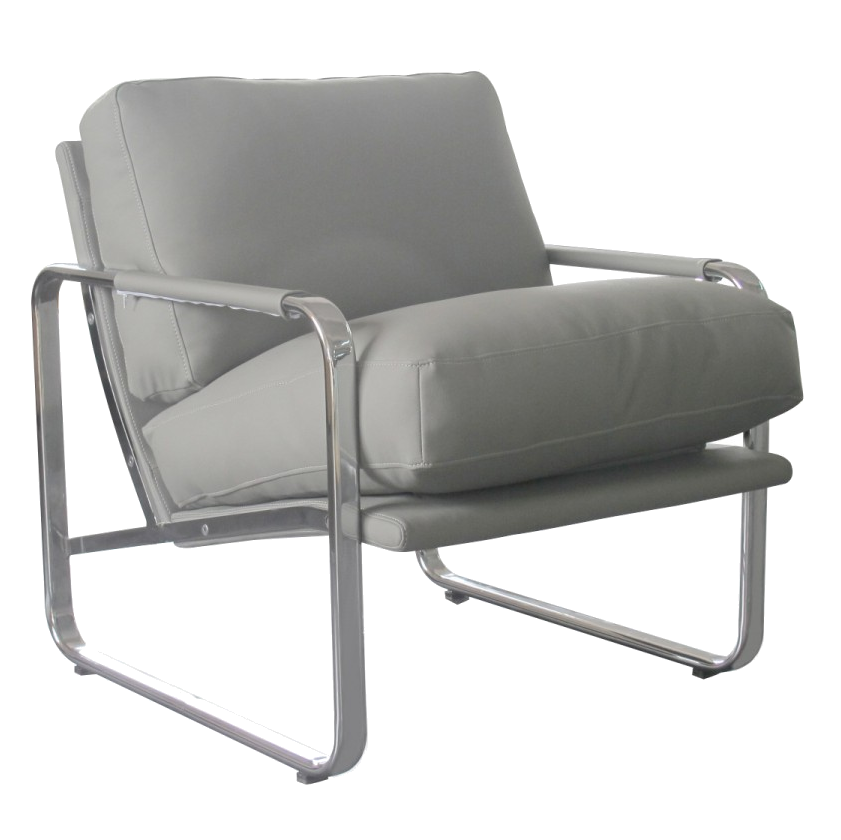 Magi White Modern Lounge Chair