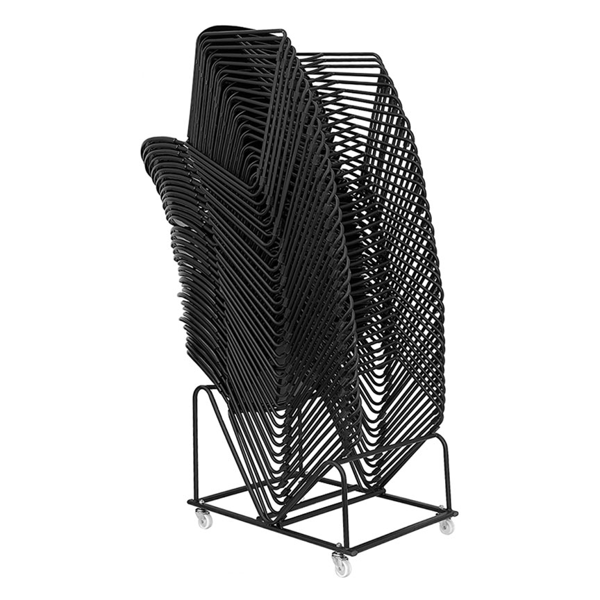 Magnus Black Stacking Chair - Stacked