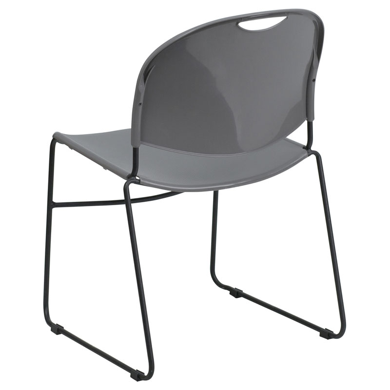 Magnus Gray Stacking Chair - Back View