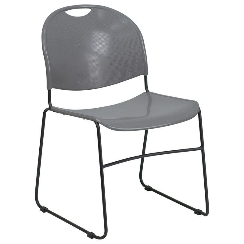 Magnus Modern Stacking Guest Chair in Gray