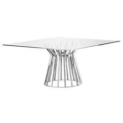 Maine Modern Square Glass Dining Table