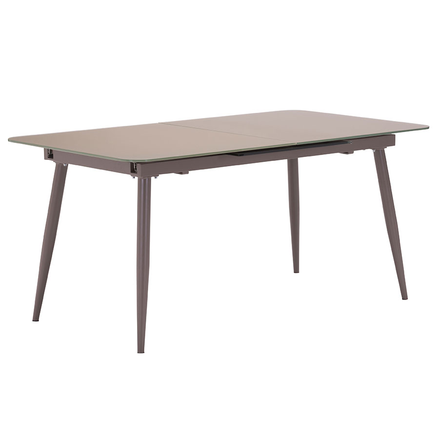 Malcolm Modern Glass Extension Table - Closed