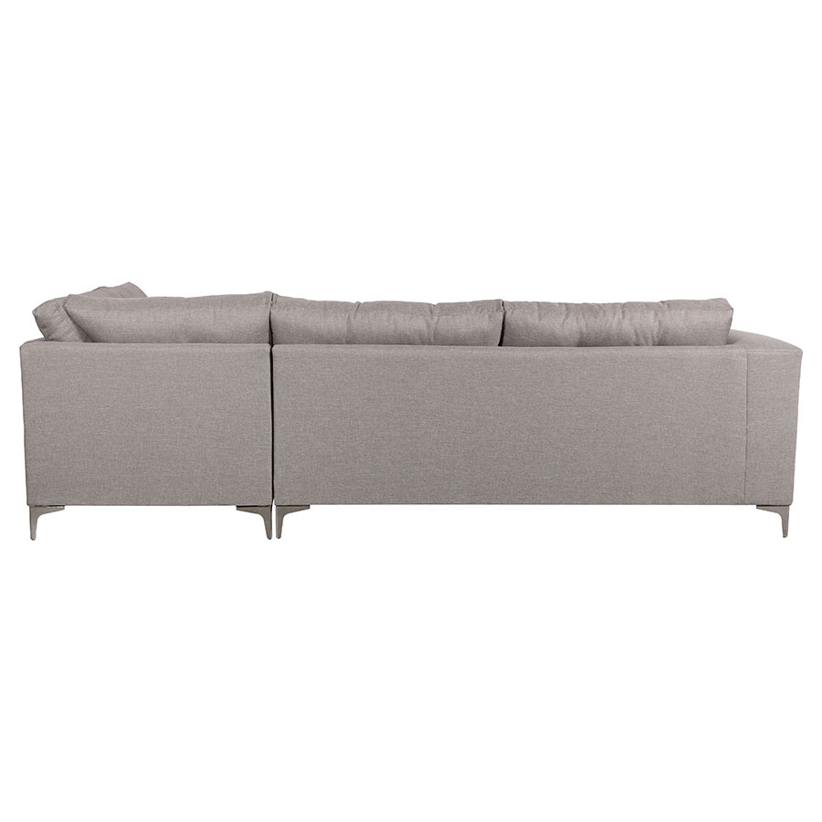Malik Right Hand Gray Contemporary Sectional