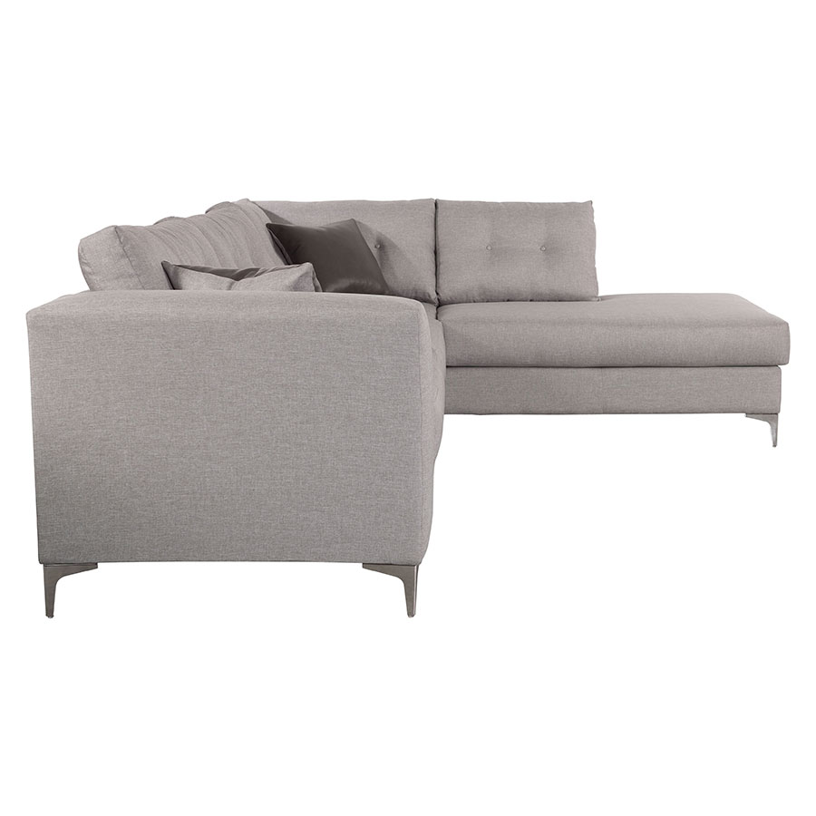 Malik Right Hand Gray Modern Sectional