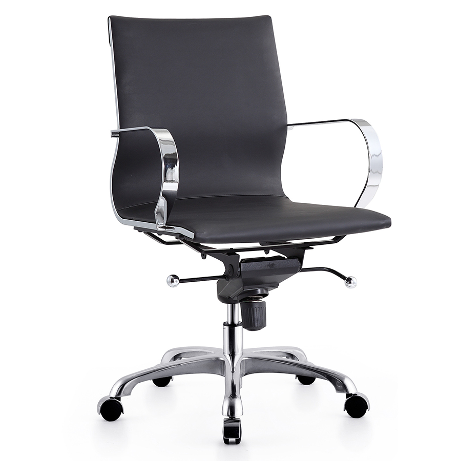 Malone Black Modern Office Chair