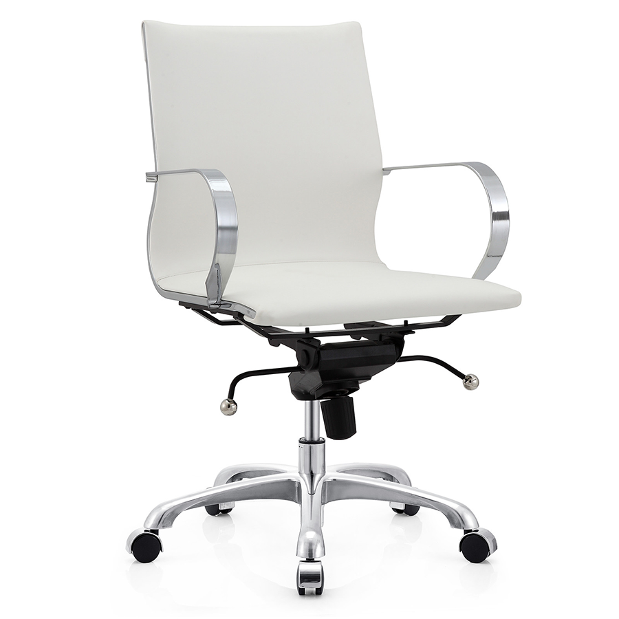 Malone White Modern Office Chair