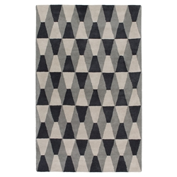 Mandy Gray Modern 4%27x6%27 Area Rug