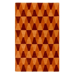 Mandy Orange Modern 4%27x6%27 Rug