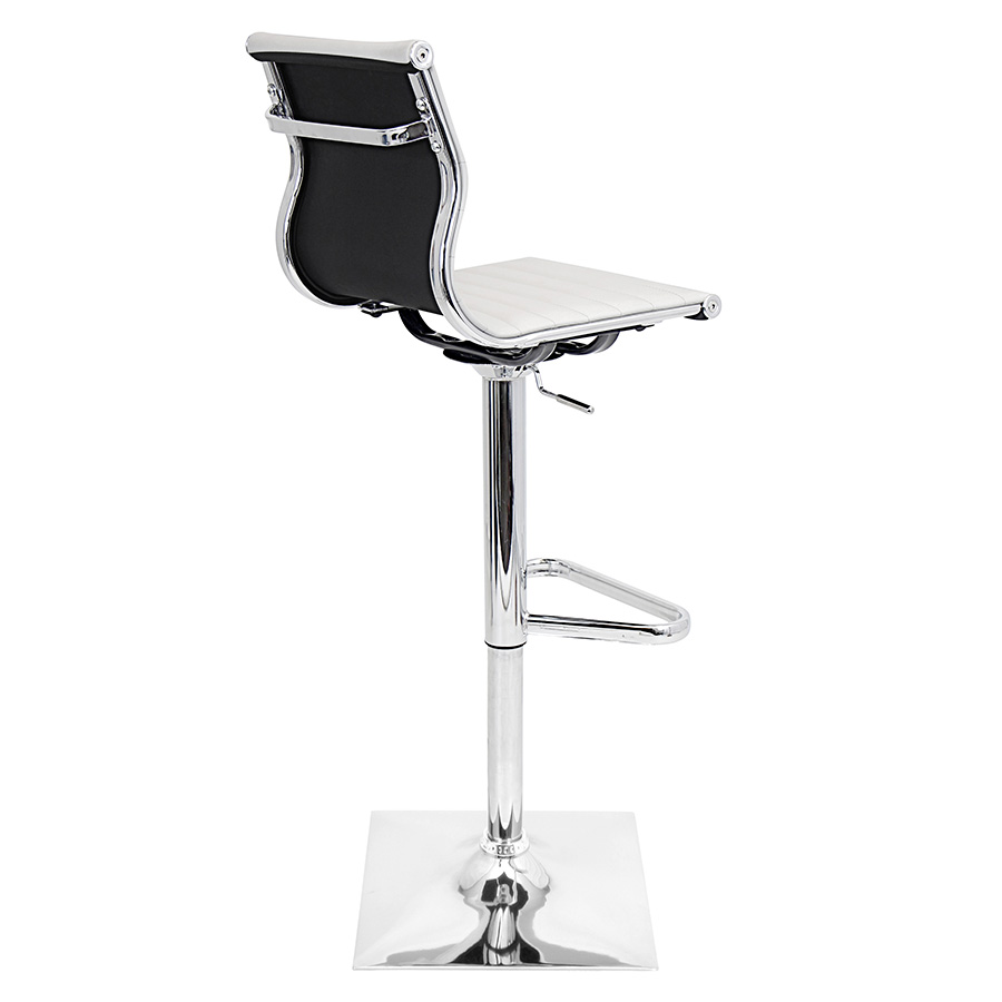 Manheim Modern White Adjustable Stool - Back View