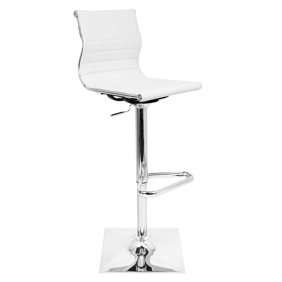 Manheim Modern White Adjustable Stool