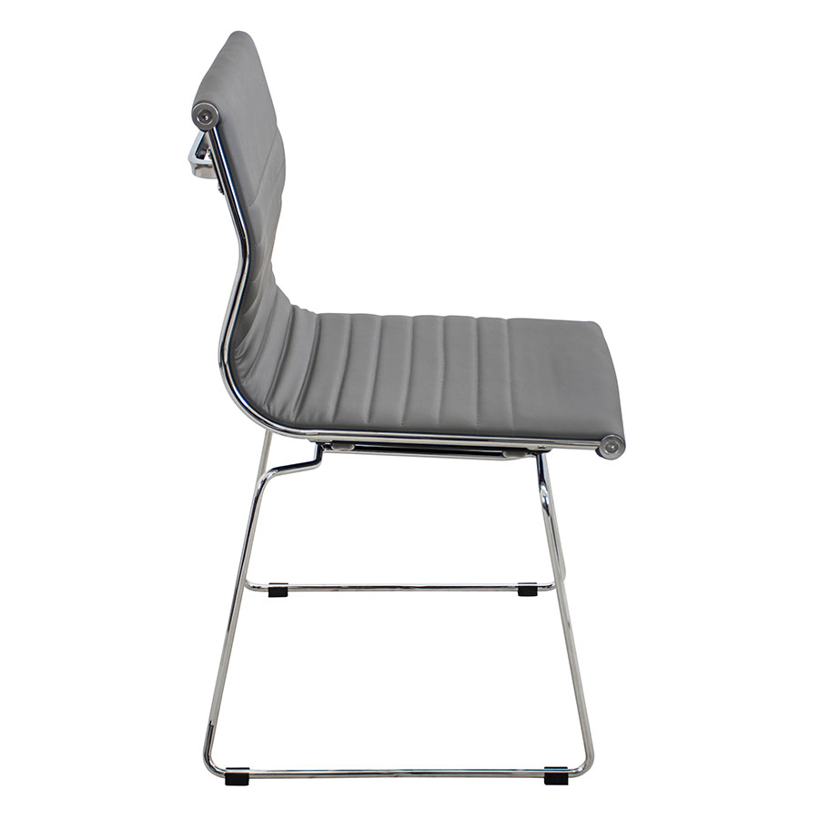Manheim Gray + Metal Contemporary Side Chair
