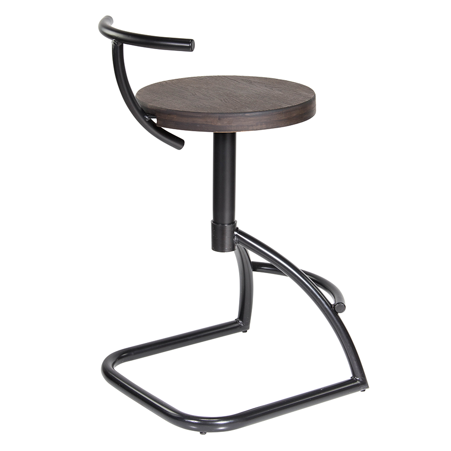 Mannix Metal + Wood Contemporary Counter Stool