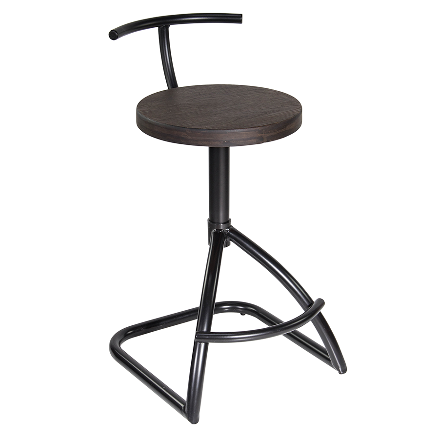 Mannix Metal + Wood Contemporary Industrial Counter Stool