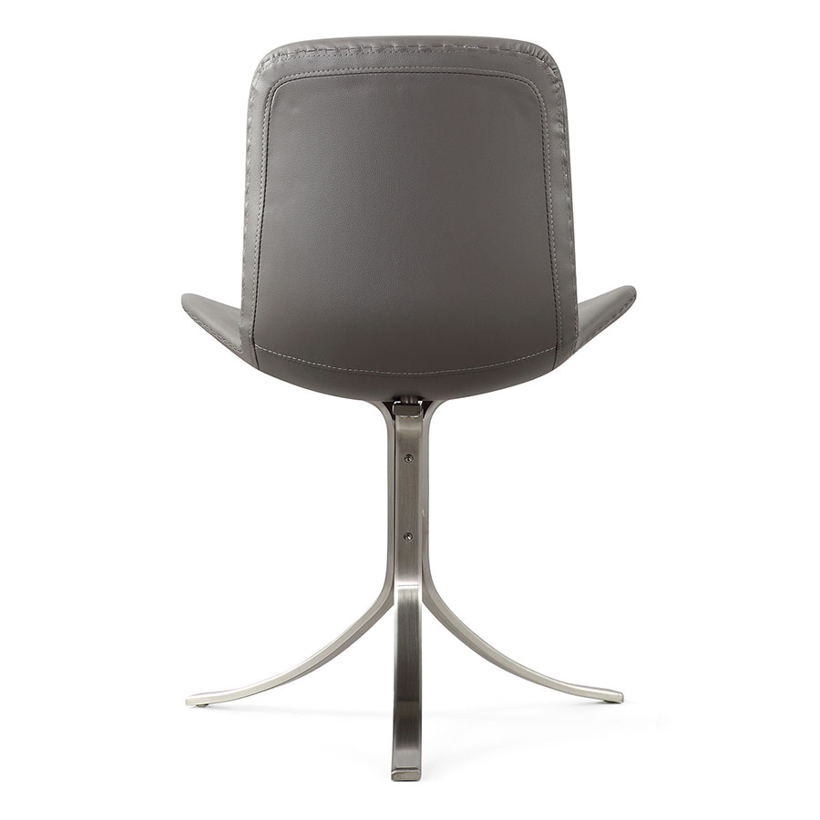 Marcela Contemporary Gray Italian Leather Accent Chair