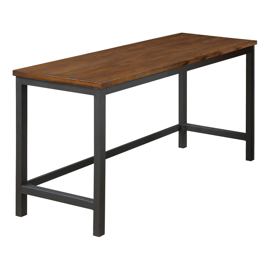 Metal And Wood Desk With Shelves