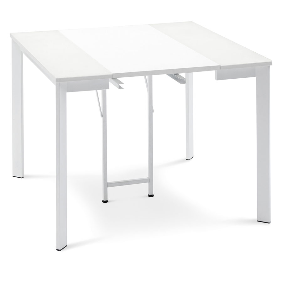 Marcia White Contemporary Extension Console + Dining Table