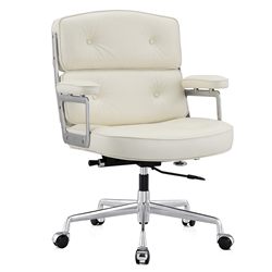 Maren White Modern Office Chair