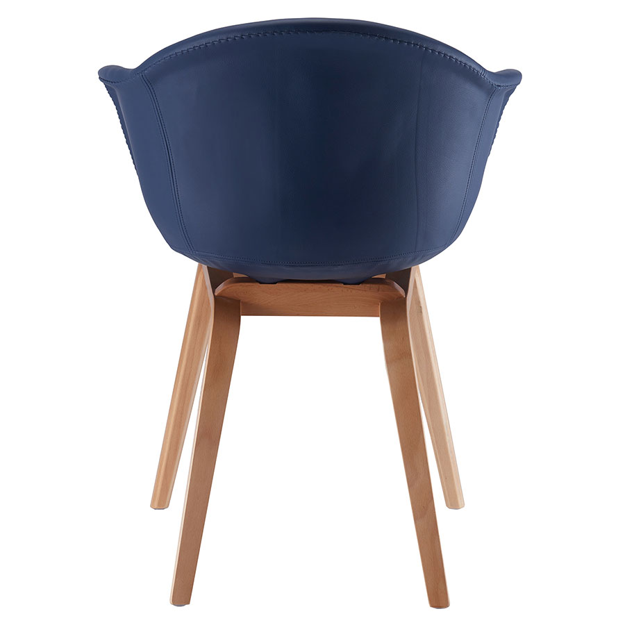 Marfa Blue Leatherette Contemporary Arm Chair