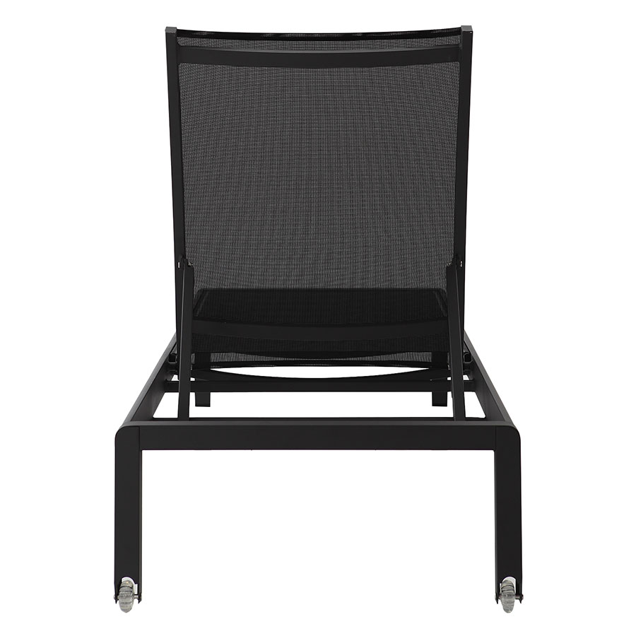 Marge Black Contemporary Sun Lounger