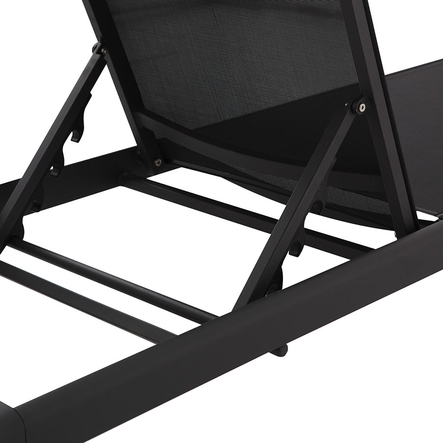 Marge Black Modern Sun Lounger