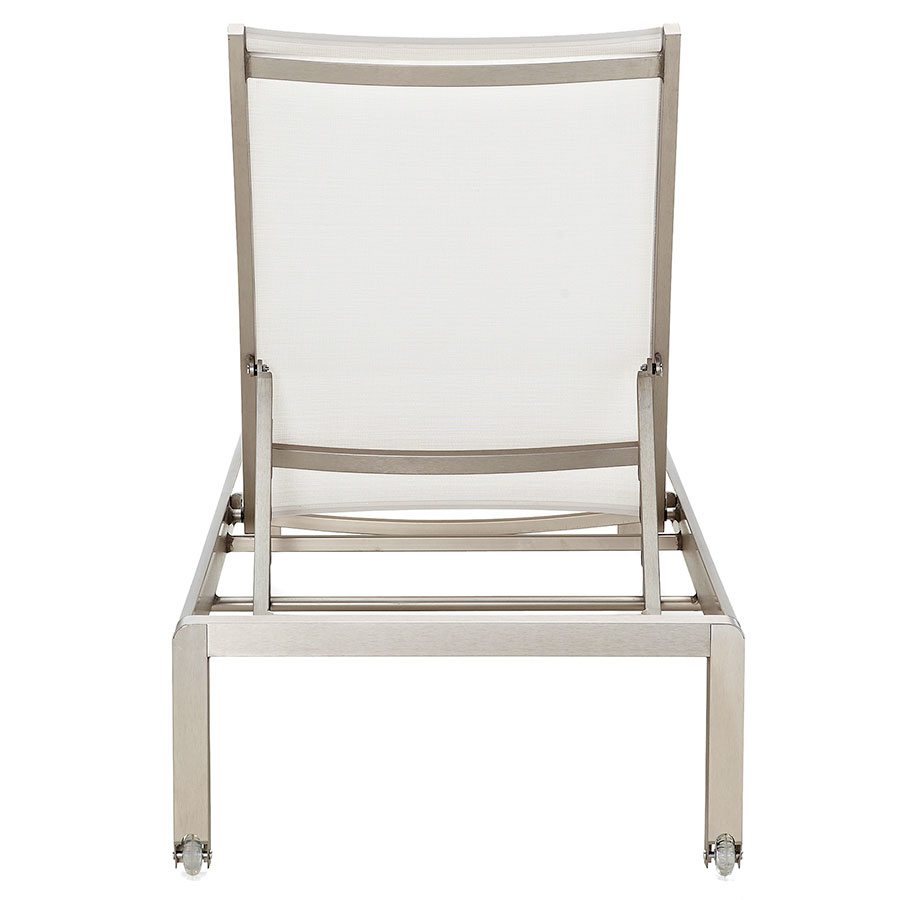 Marge White Contemporary Outdoor Sun Lounger