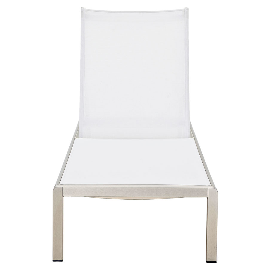 Marge White Modern Outdoor Chaise