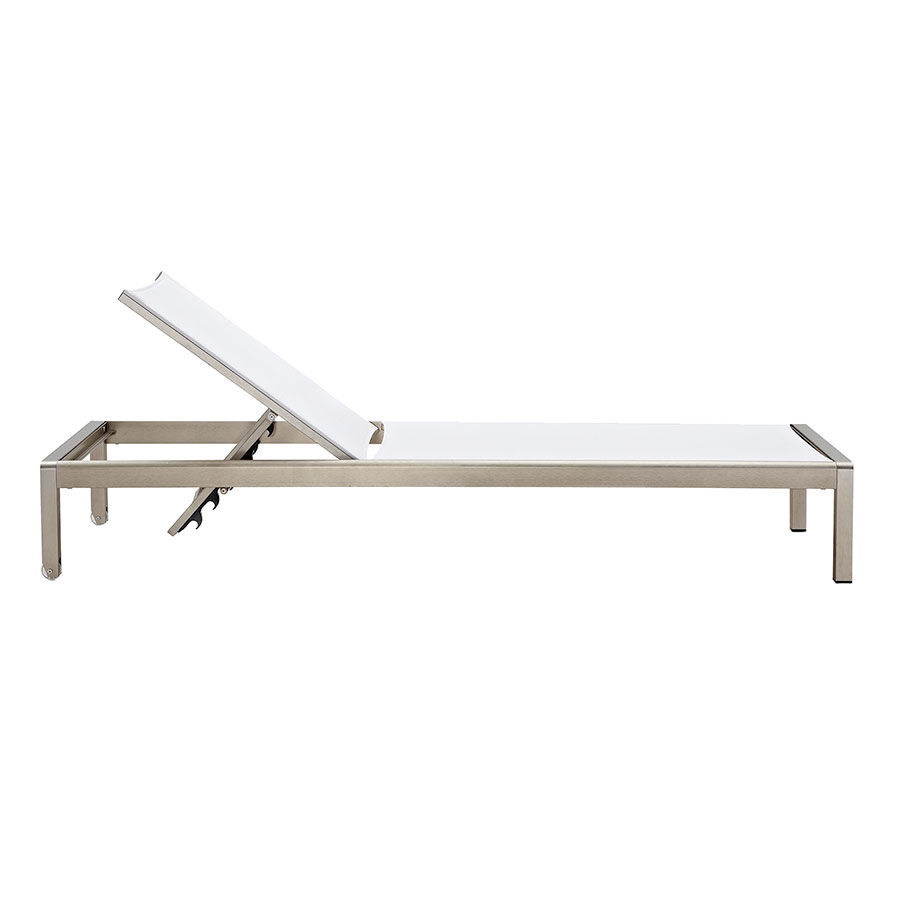 Marge White Contemporary Outdoor Chaise