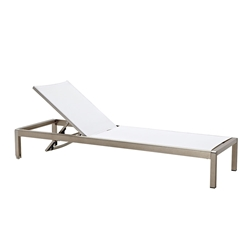 Marge White Modern Outdoor Chaise Lounge