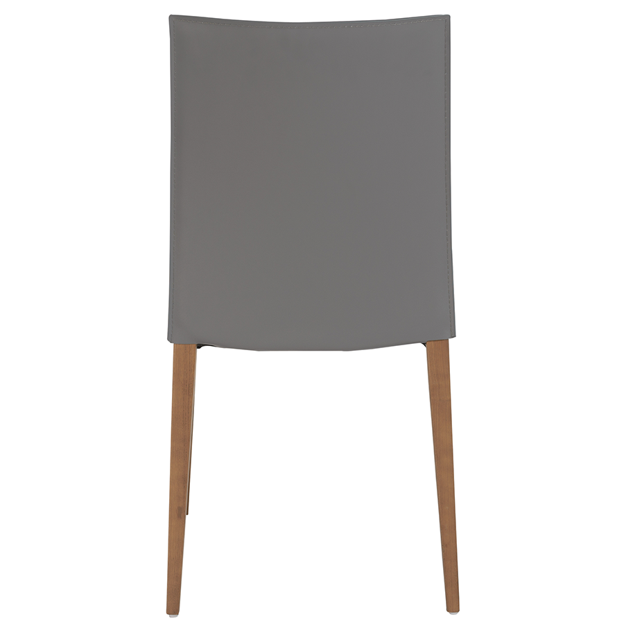 Maricella Anthracite + Walnut Contemporary Dining Chair