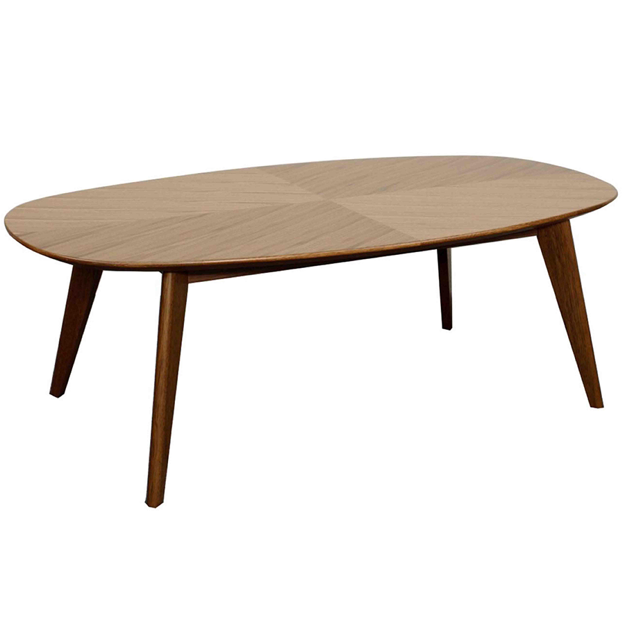 Marika Walnut Modern Coffee Table