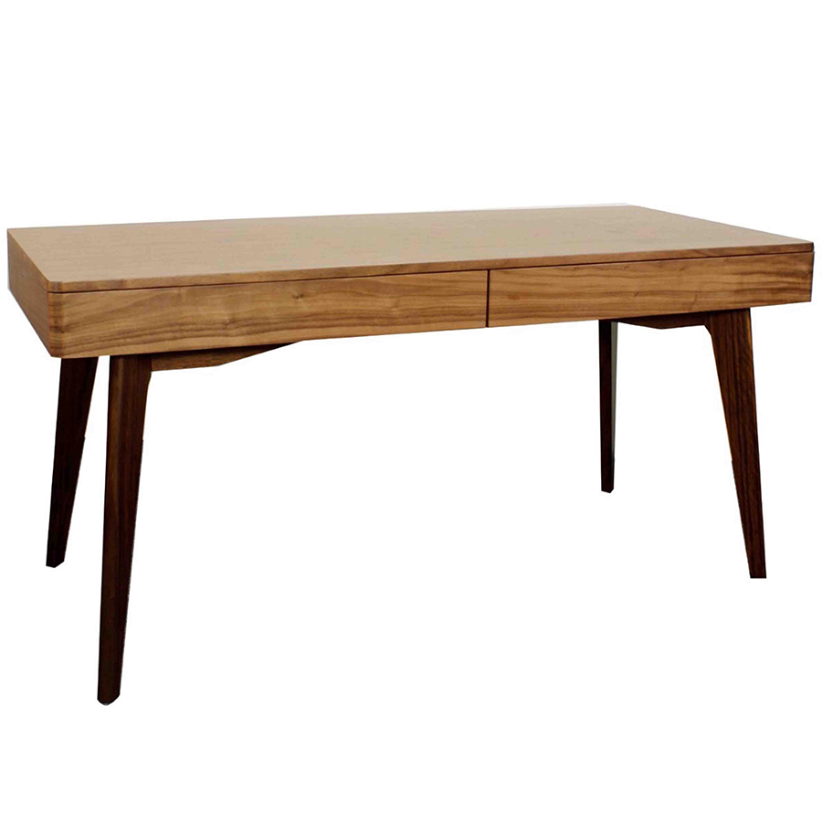 Marika Modern Walnut Desk
