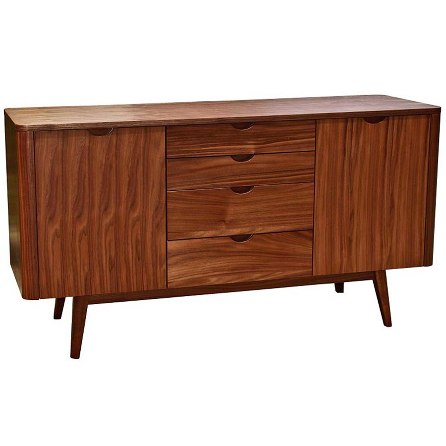 Marika Walnut Contemporary Sideboard