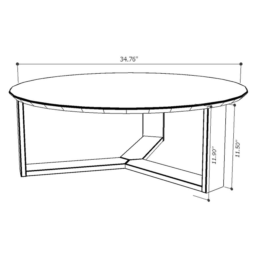 Markel Modern Coffee Table - Drawing