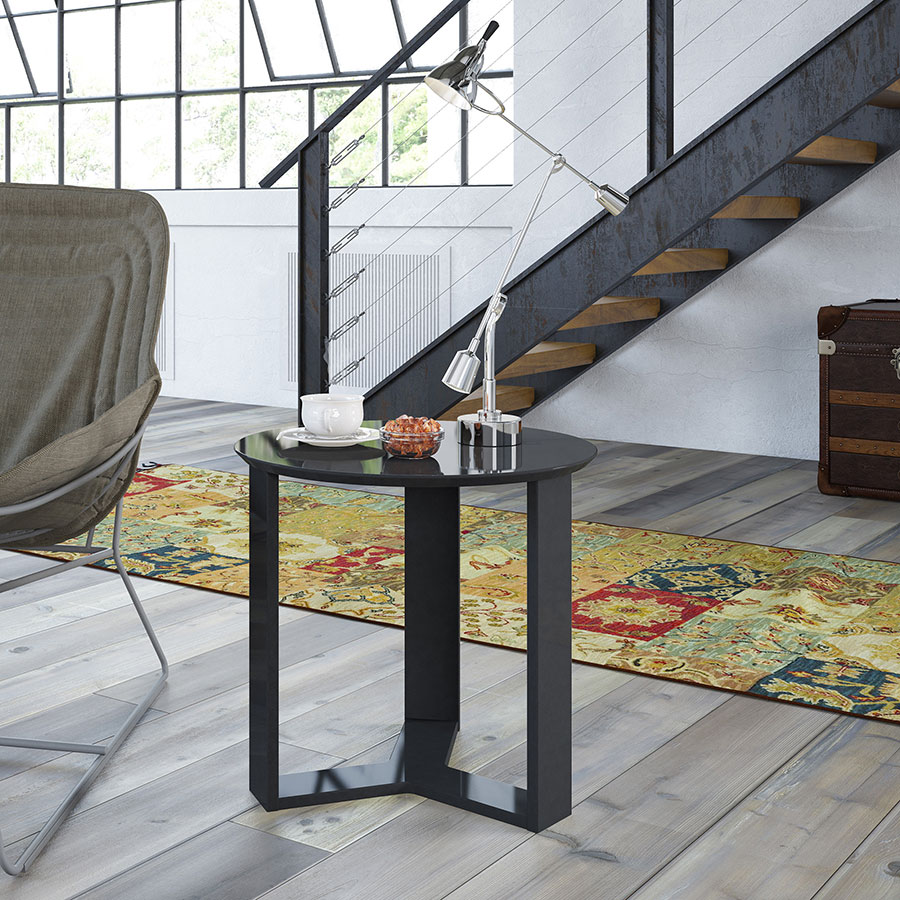 Markel Modern Black Cocktail Table & End Table