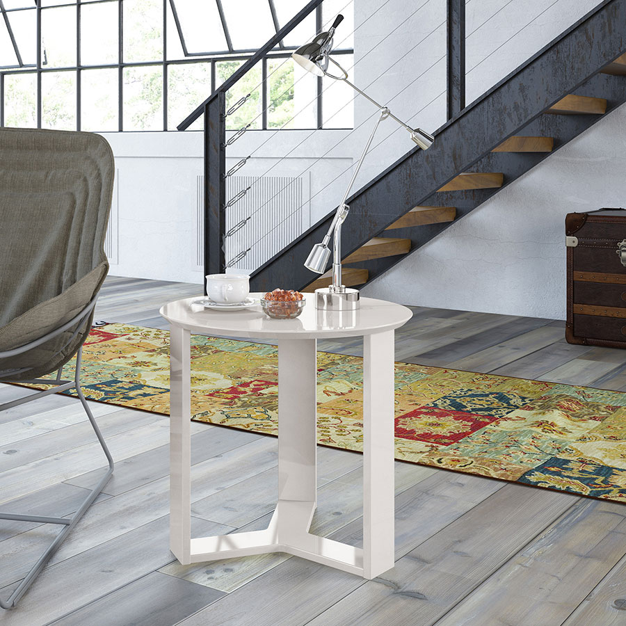 Markel Modern Off White Cocktail Table & End Table