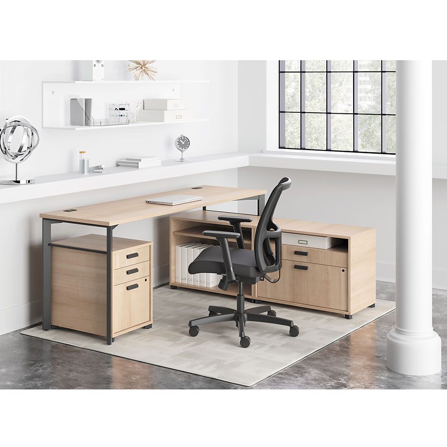 Marlin Contemporary Wheat-Colored Supervisor Desk Set