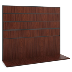 Marlin Modern Work Wall in Chestnut Laminate