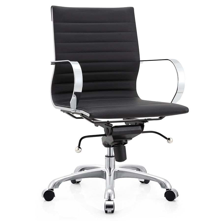 Marna Black Modern Office Chair