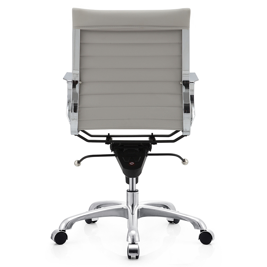 Marna Gray Leatherette + Polished Metal Contemporary Office Chair