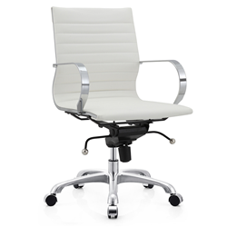 Marna White Modern Office Chair